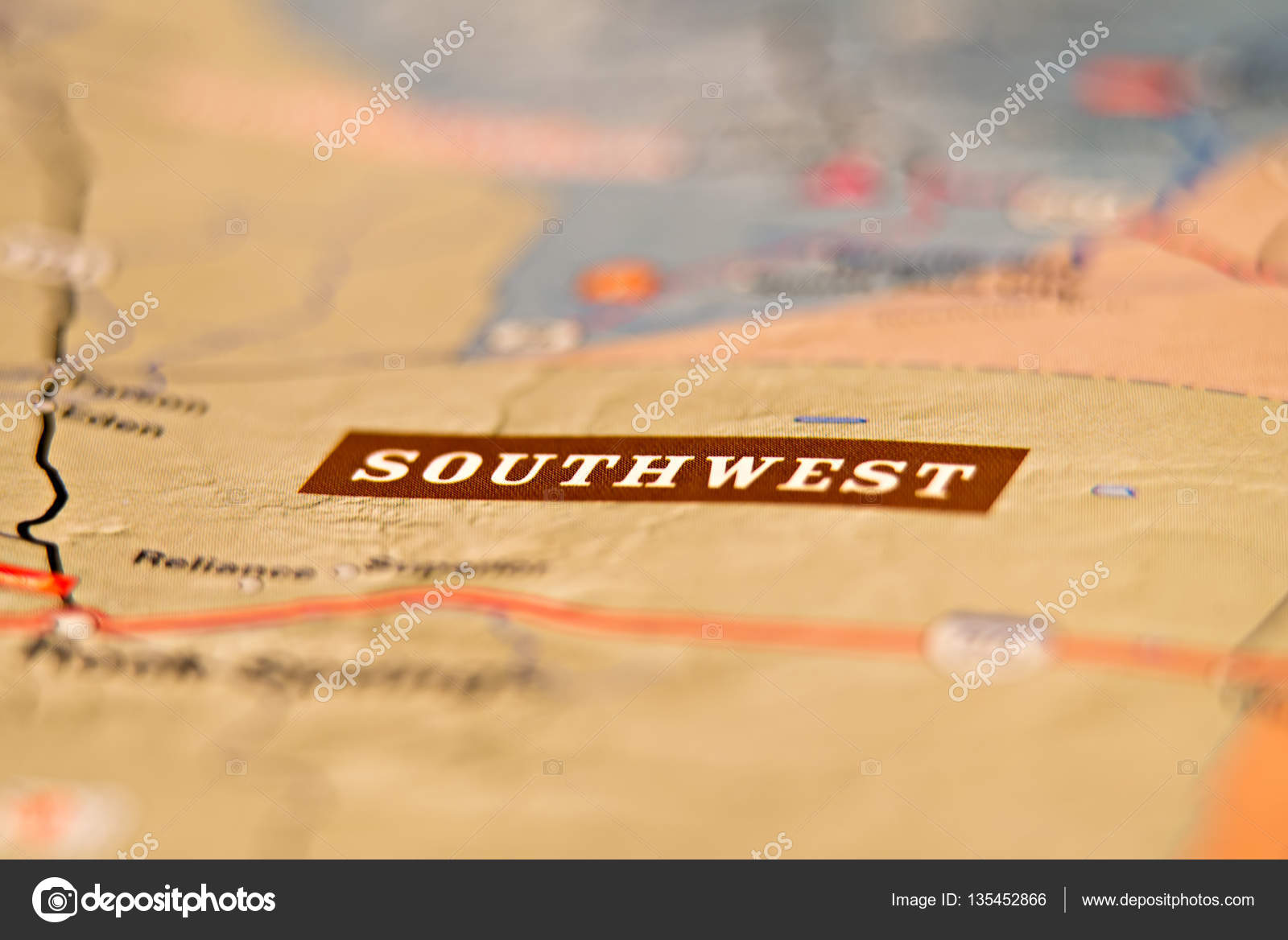Southwest America Map.Southwest America Location Area Map Stock Photo C Digidream 135452866