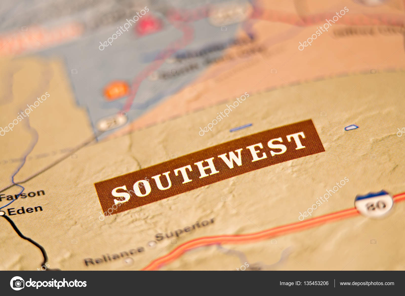 Southwest America Map.Southwest America Location Area Map Stock Photo C Digidream 135453206