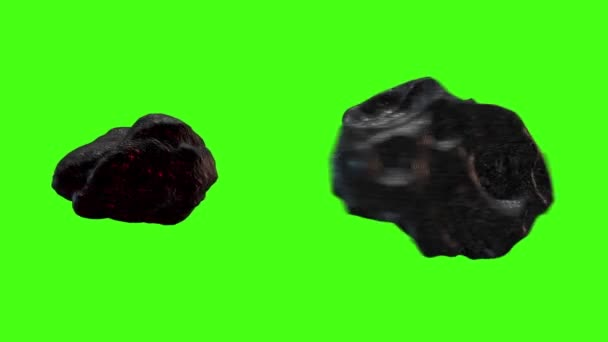 Asteroid Meteor Green Screen Front Earth Space Universe