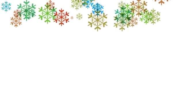 video z vloček sněhu zimní
