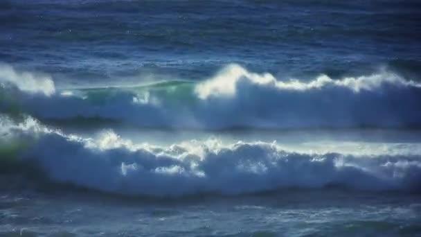 oceánu vlny bouře vítr rozbouřeném moři
