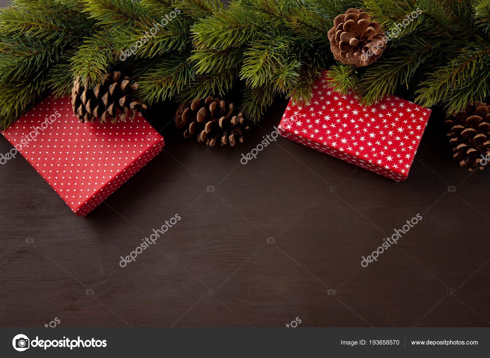 Marco Decoración Navidad Con Tarjeta Para Texto Tarjetas