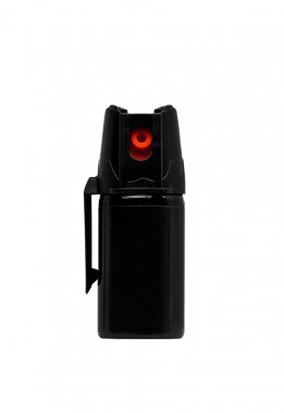 A can of pepper spray for self defense isolated on white