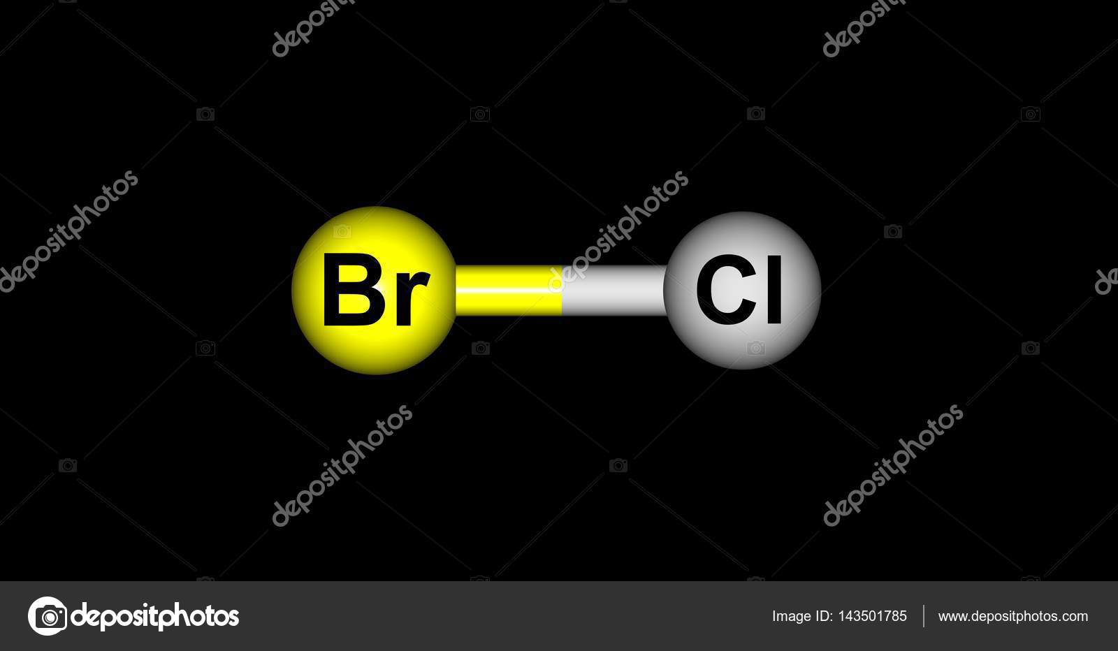 Bromine monochloride molecular structure isolated on black stock bromine monochloride molecular structure isolated on black stock photo biocorpaavc Image collections