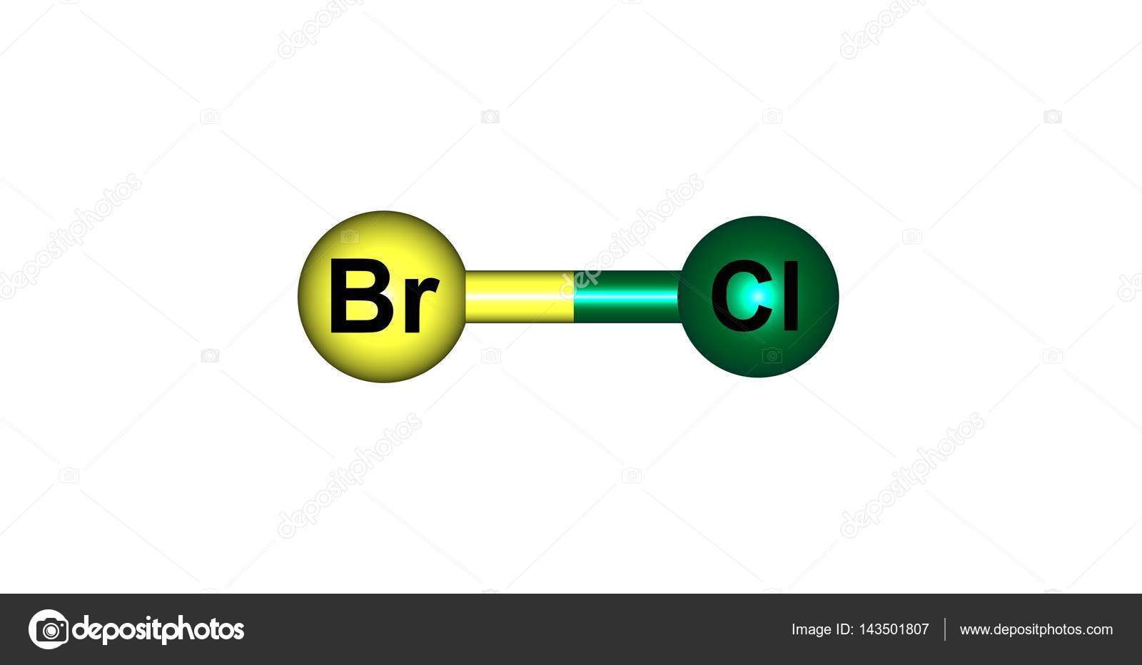 Bromine monochloride molecular structure isolated on white stock bromine monochloride molecular structure isolated on white stock photo biocorpaavc Image collections