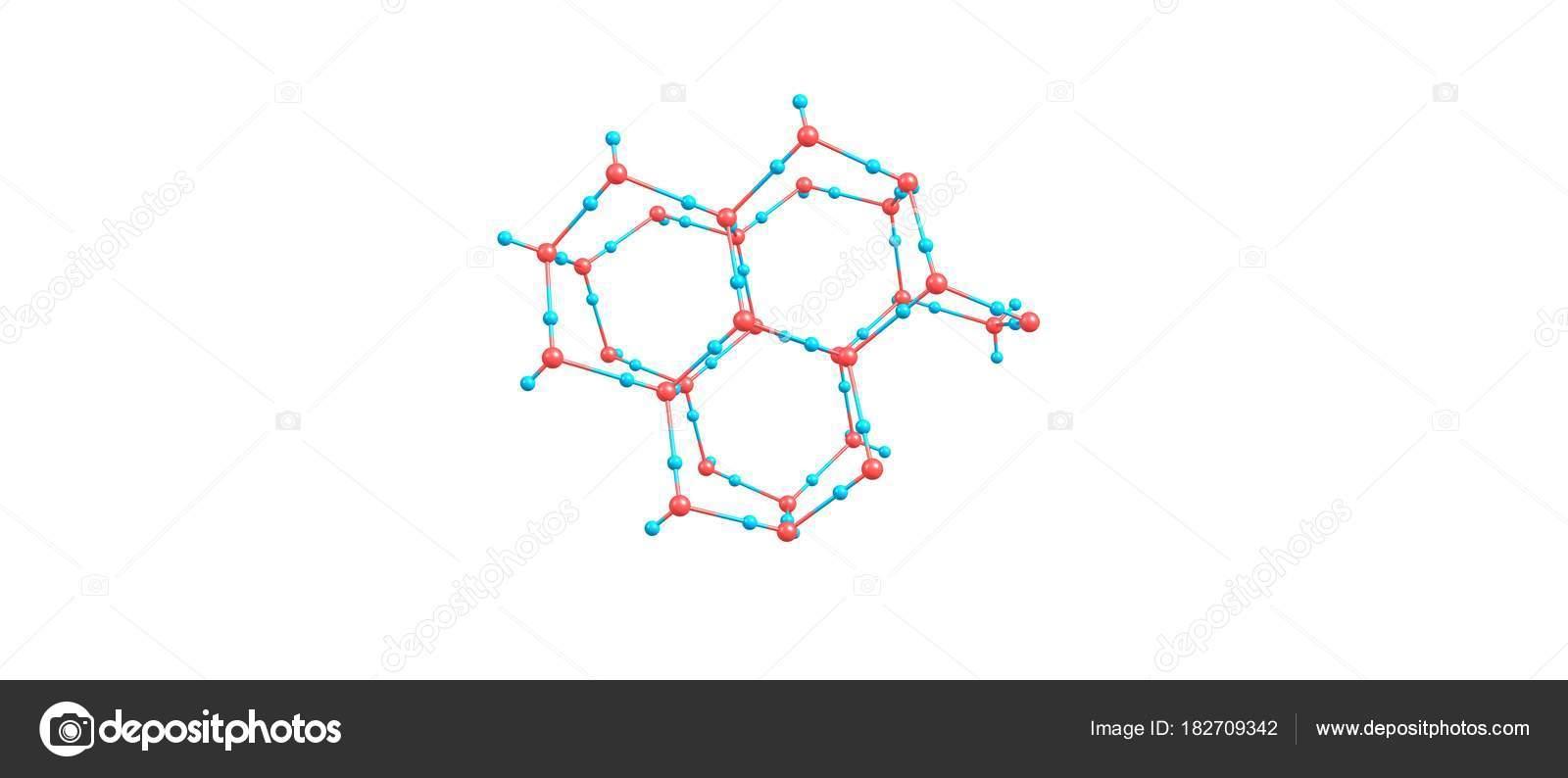 Color Opaco Blanco Estructura Molecular Del Hielo Sobre