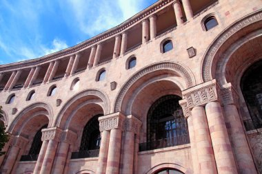 historic building with architectural details, Yerevan, Armenia
