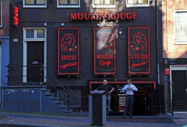 Red-light district in Amsterdam, Netherlands.
