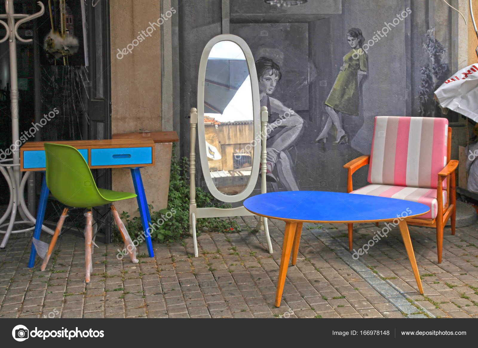 Vintage Furniture And Other Staff At Jaffa Flea Market In Tel Aviv