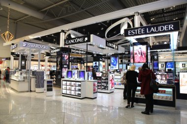 Duty free shops at Eleftherios Venizelos airport in Athens, Greece