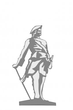 vector illustration of Peter the great