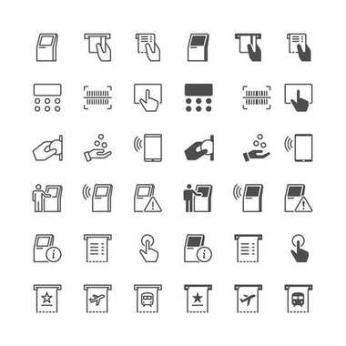 Kiosk icons, included normal and enable state.