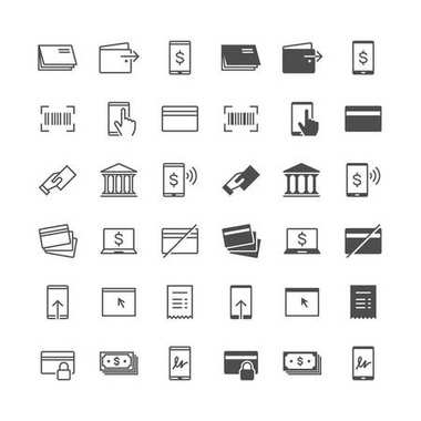 Internet banking icons, included normal and enable state.