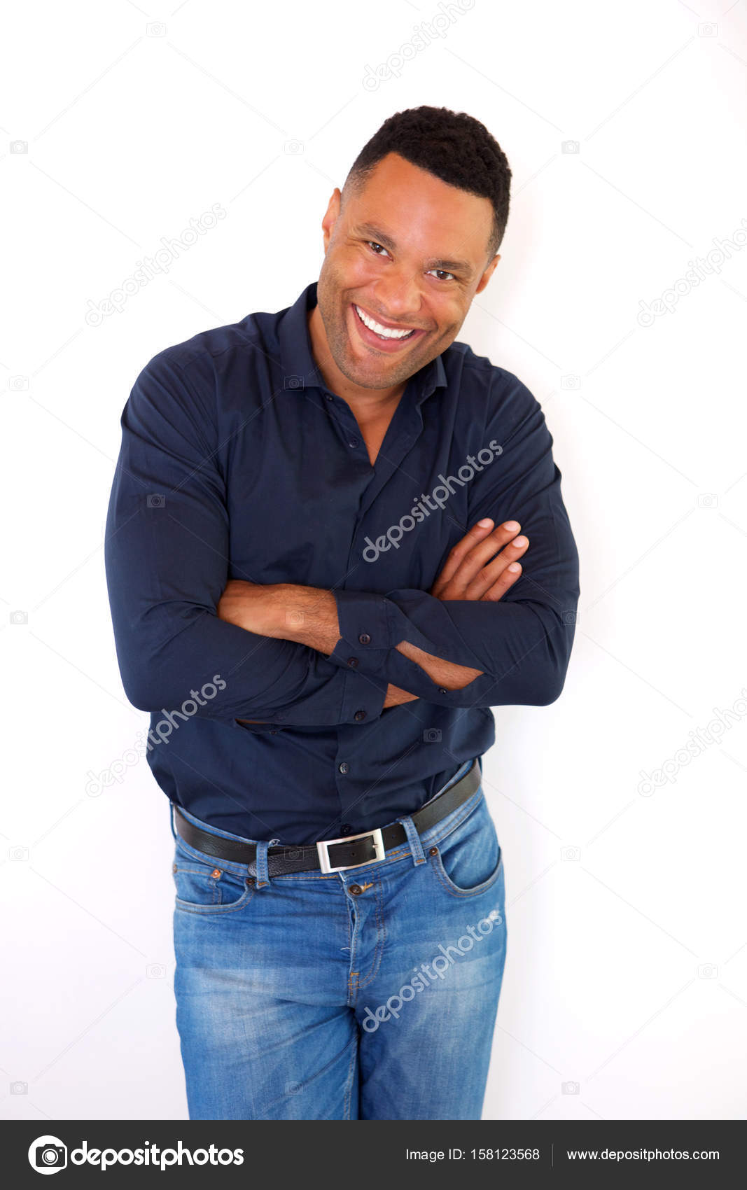 96ebe477406b black jeune homme souriant — Photographie mimagephotos ©  158123568