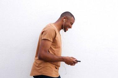 Man enjoying music