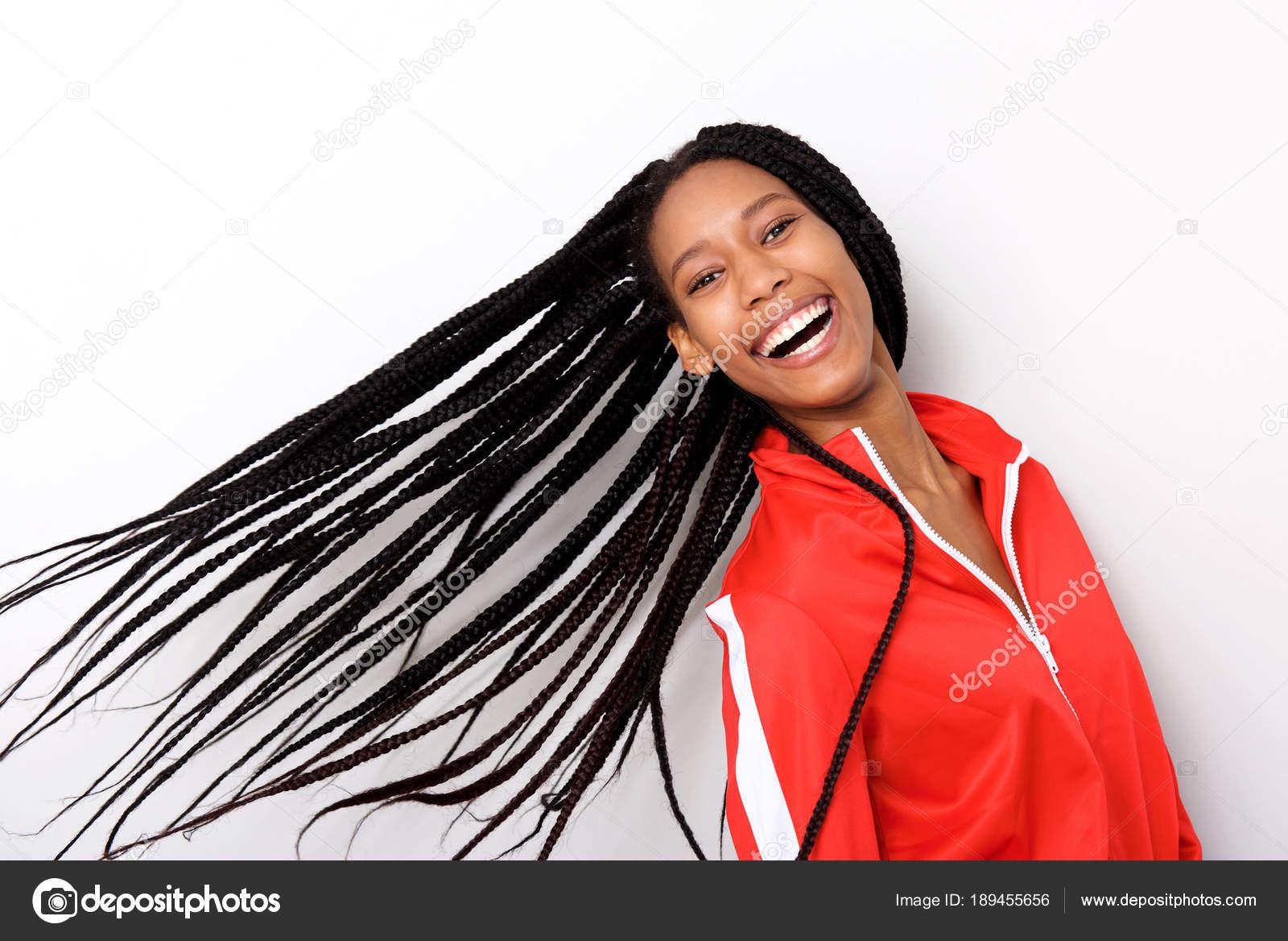 Une Joyeuse Portrait Rouge Cheveux Veste Bouchent Longs Fillette Ft5qZ6nw