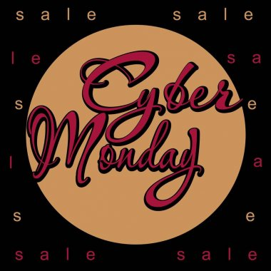 Cyber Monday.  illustration. Advertising. Discounts. Sale