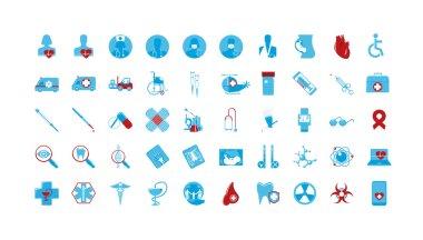 Medicine icons color set