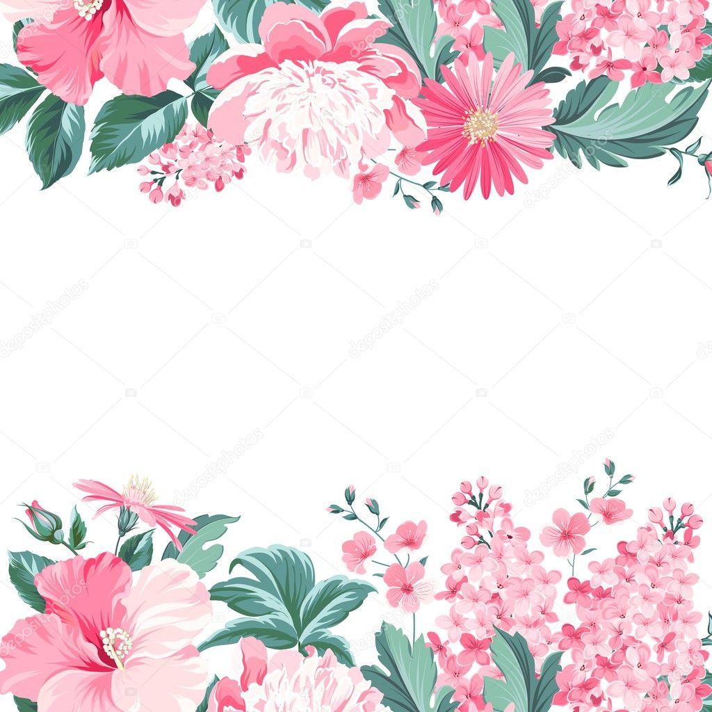 Imagenes Flores Vintage Marco Flores Vintage Vector De Stock