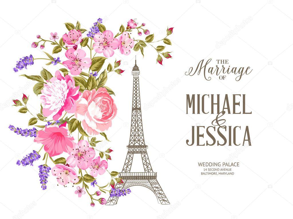 Imágenes: Tarjetas Invitaciones Torre Eiffel