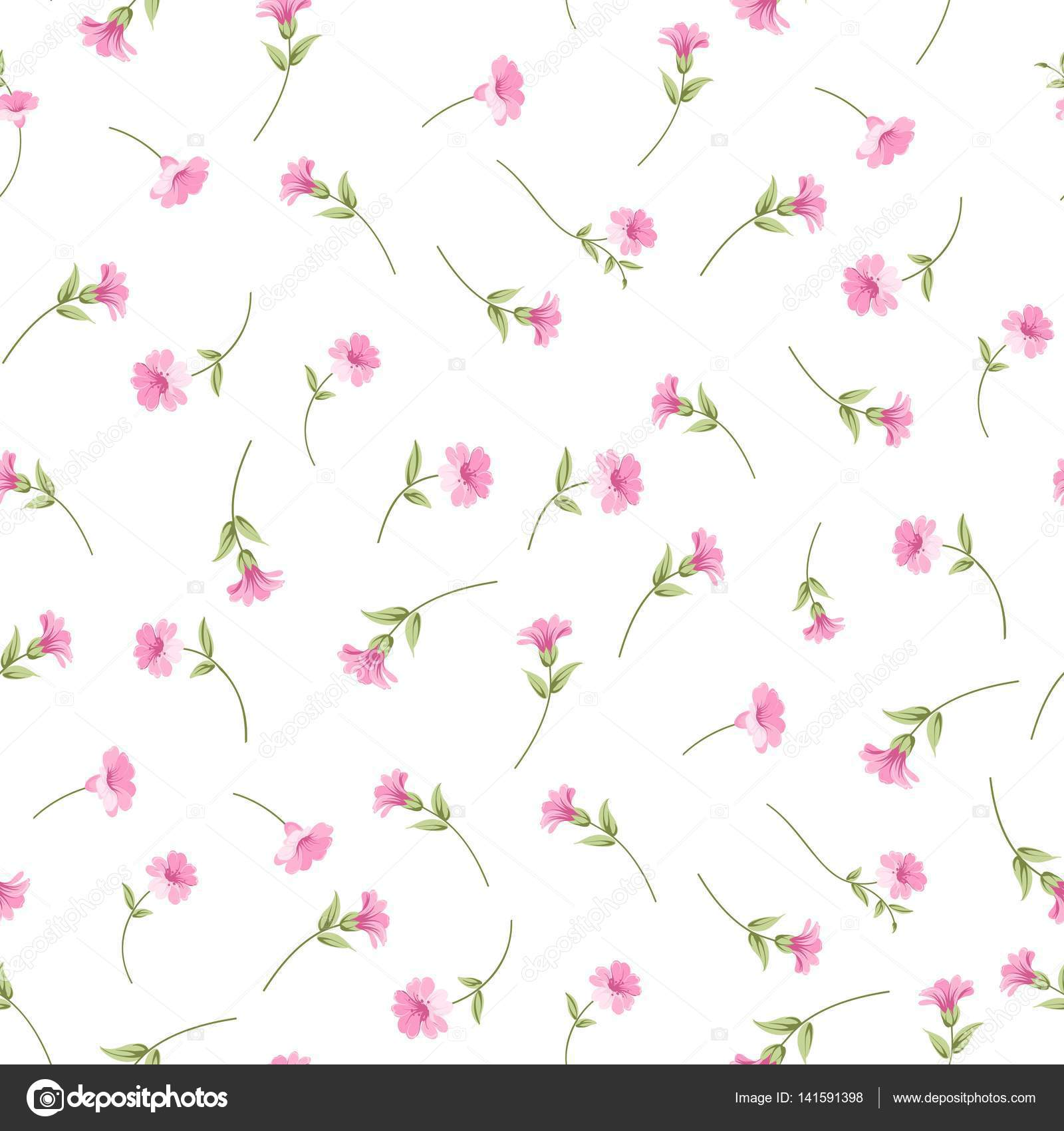 The Elegant Flowers Fabric Stock Vector C Kotkoa 141591398