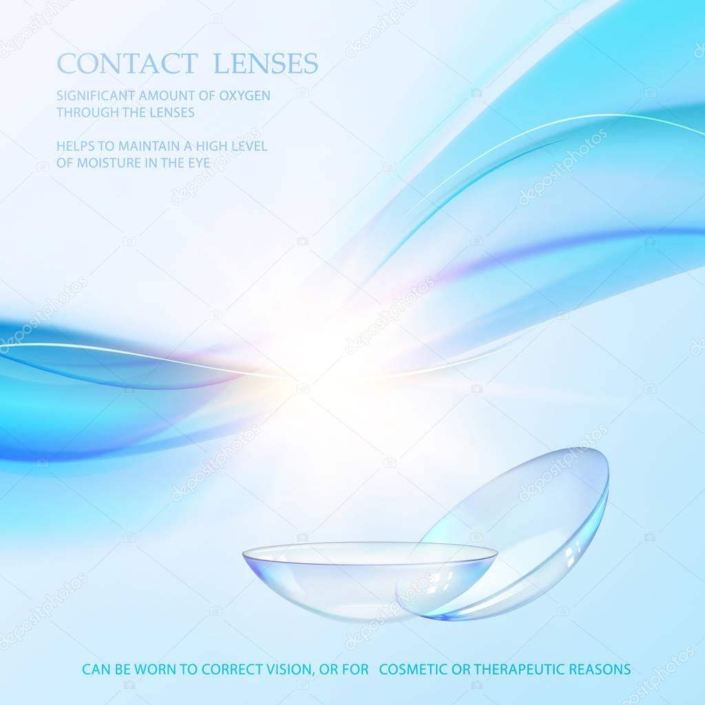 Science card with Contact Lenses sign.
