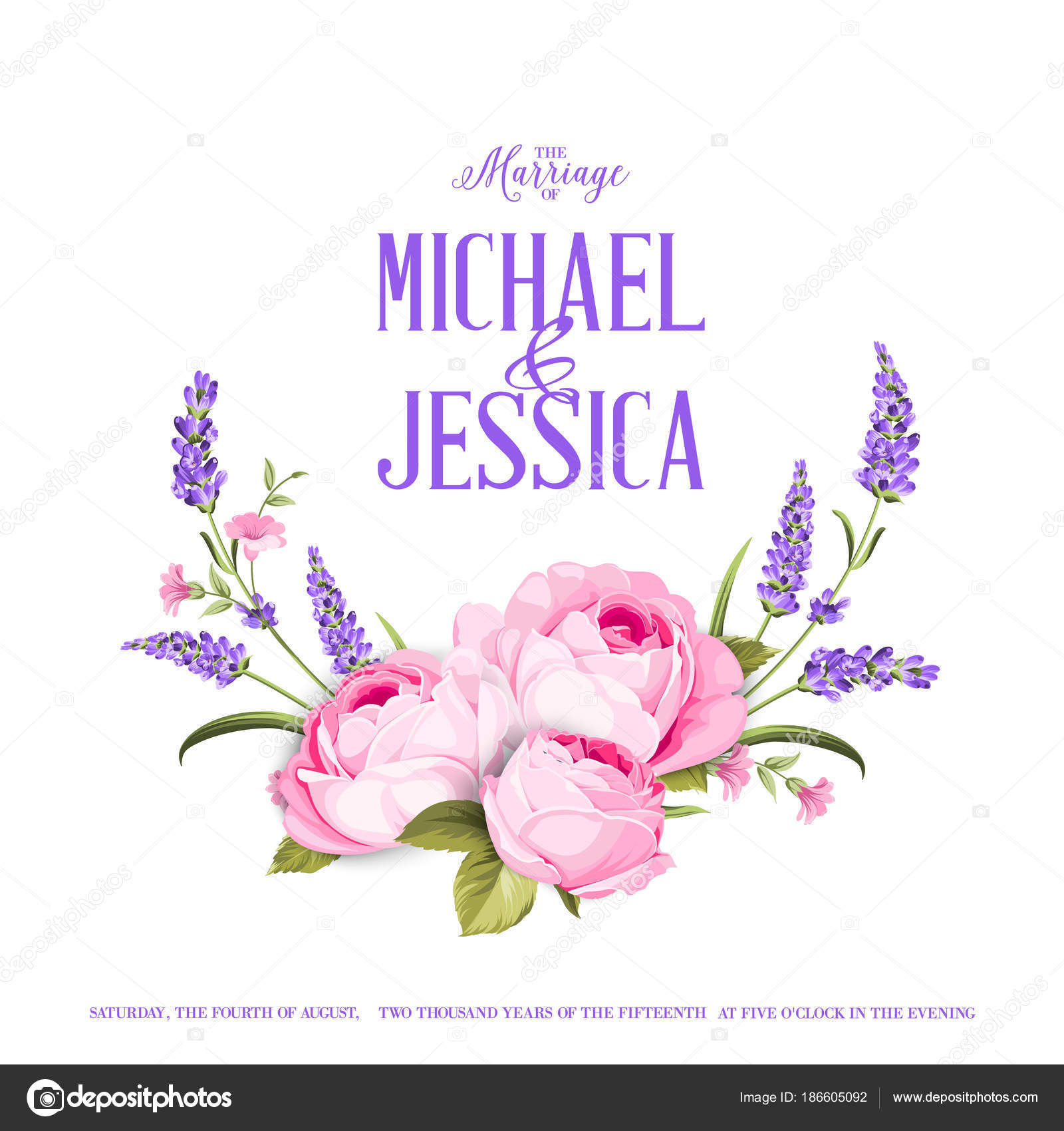 Marriage invitation card with custom sign stock vector kotkoa marriage invitation card with custom sign stock vector stopboris Gallery