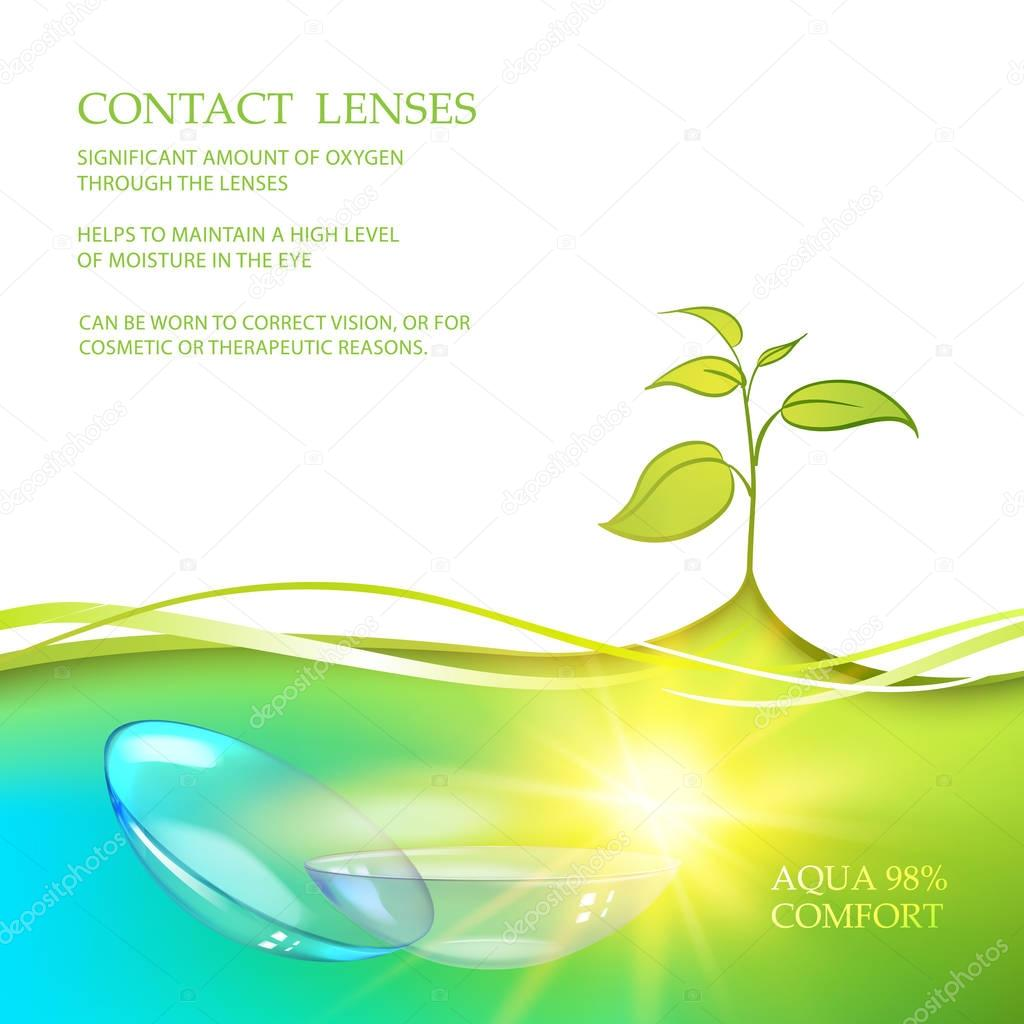 Illustration of couple transparent lenses.