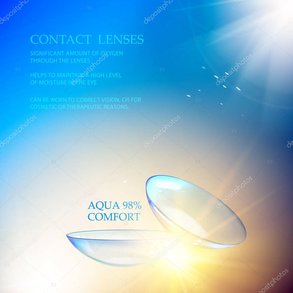The Contact Lenses Illustration.
