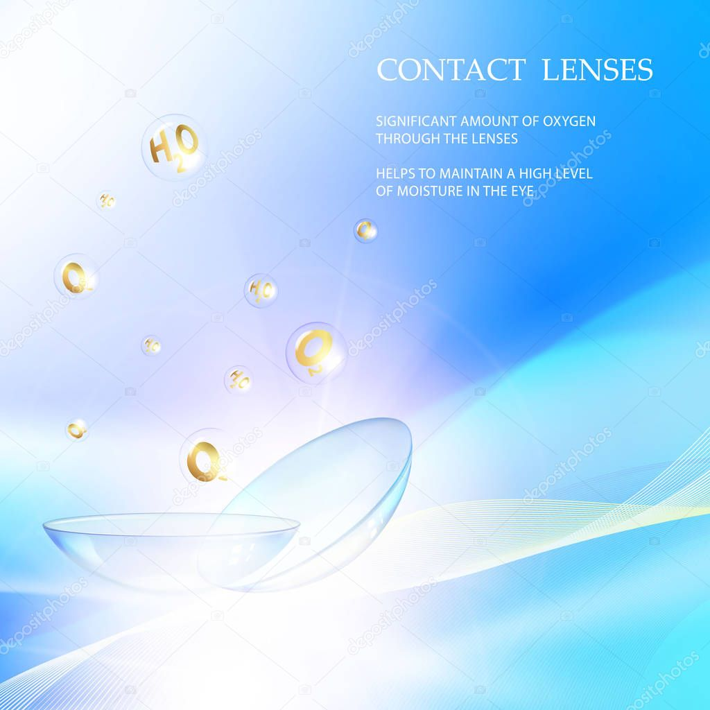 Science card with Contact Lenses