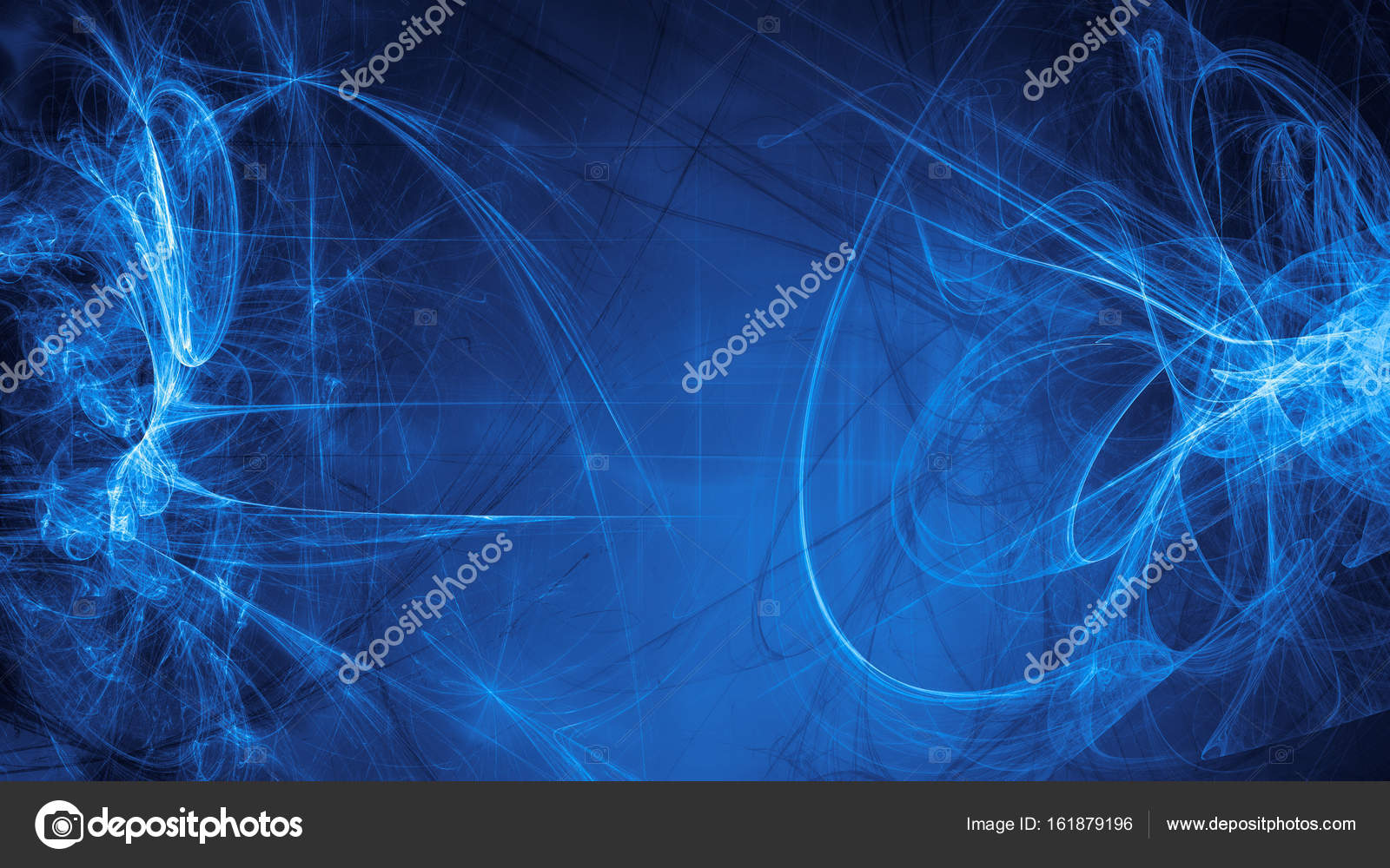 Blue Alien Space Dreams Composite Abstract Background Stock Photo