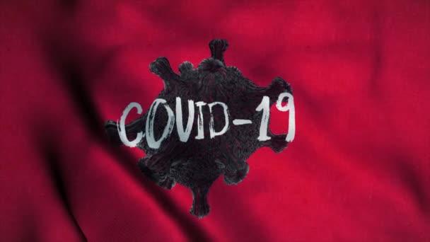 Concept d'épidémie de coronavirus. Drapeau timbre Covid-19 ...