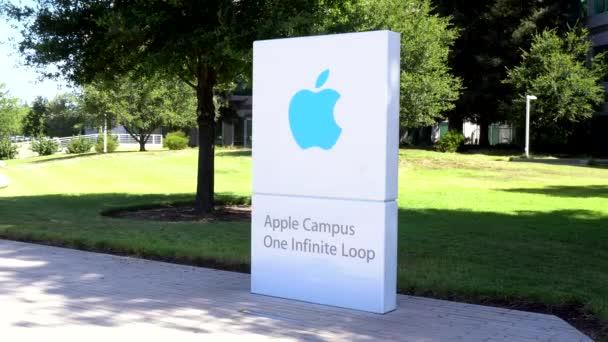 Az Apple számítógép világ központja és logó