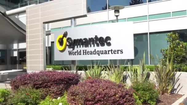 Mountain View, Ca/Usa - 30. července 2017: Sídlo společnosti Symantec svět a logo. Symantec je americký Fortune 500 softwaru a služeb společnosti