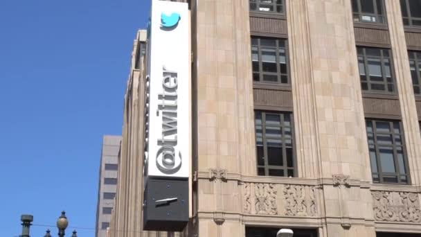 San Francisco, Ca/Usa - 30. července 2017: Twitter Světové ústředí, znak a logo. Twitter je on-line zpravodajství a služba sociální sítě