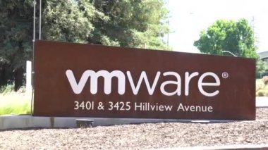 PALO ALTO, CA/USA - JULY 29, 2017: VMware corporate headquarters. VMware, Inc. provides cloud computing and platform virtualization software and services.