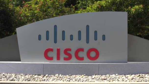 San Jose, Ca/Usa - 30. července 2017: Sídlo společnosti Cisco a logo. Cisco Systems, Inc. je americký nadnárodní technologie konglomerátu
