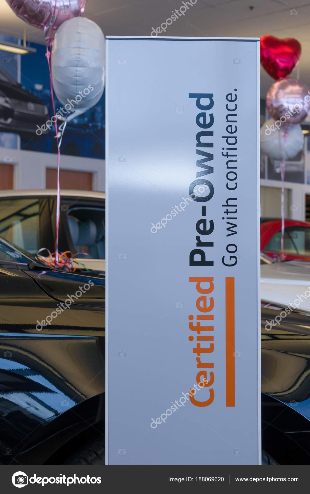Vw Dealership Mn >> Volkswagen Pre Owned Dealership Showroom And Logo Stock