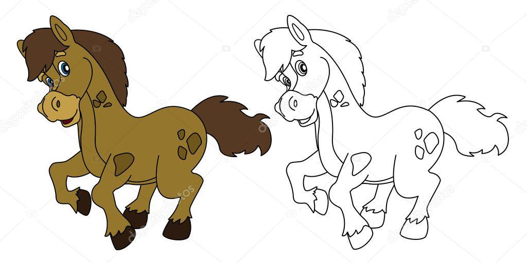 Imágenes: caballos bebes animados | Dibujos animados de caballo ...