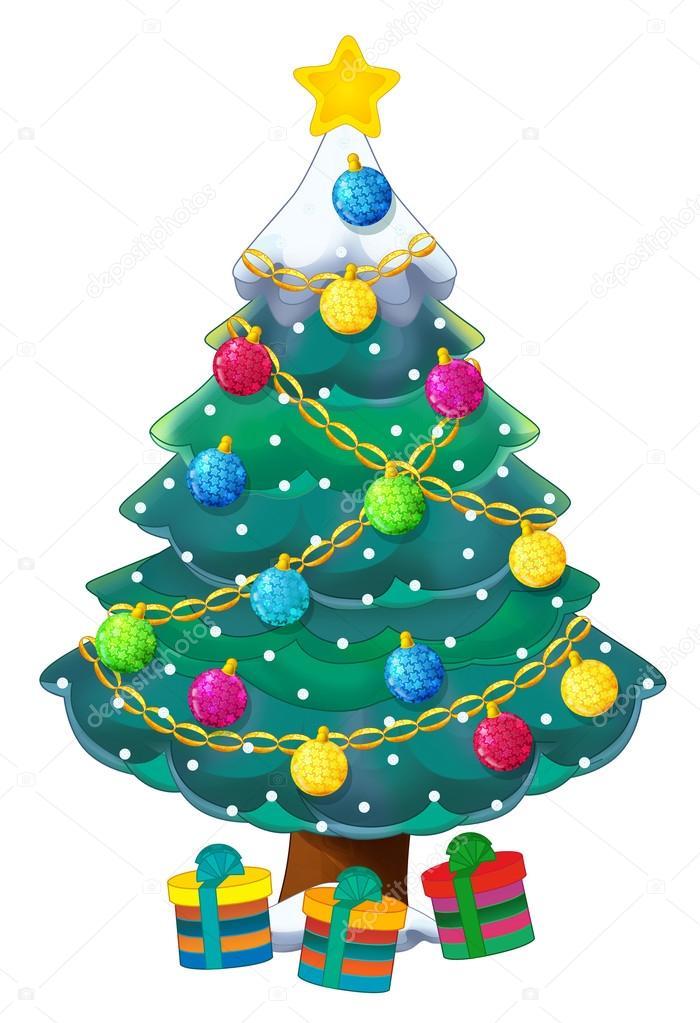 Rbol de navidad de dibujos animados fotos de stock - Arbol de navidad fotos ...