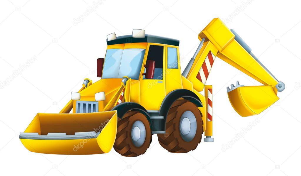 lustige cartoon bagger stockfoto  u00a9 illustrator hft tractor clip art for kids tractor clipart b&w