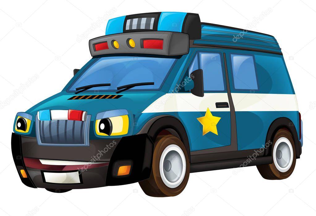 Kresleny Policejni Auto Van Stock Fotografie C Illustrator Hft
