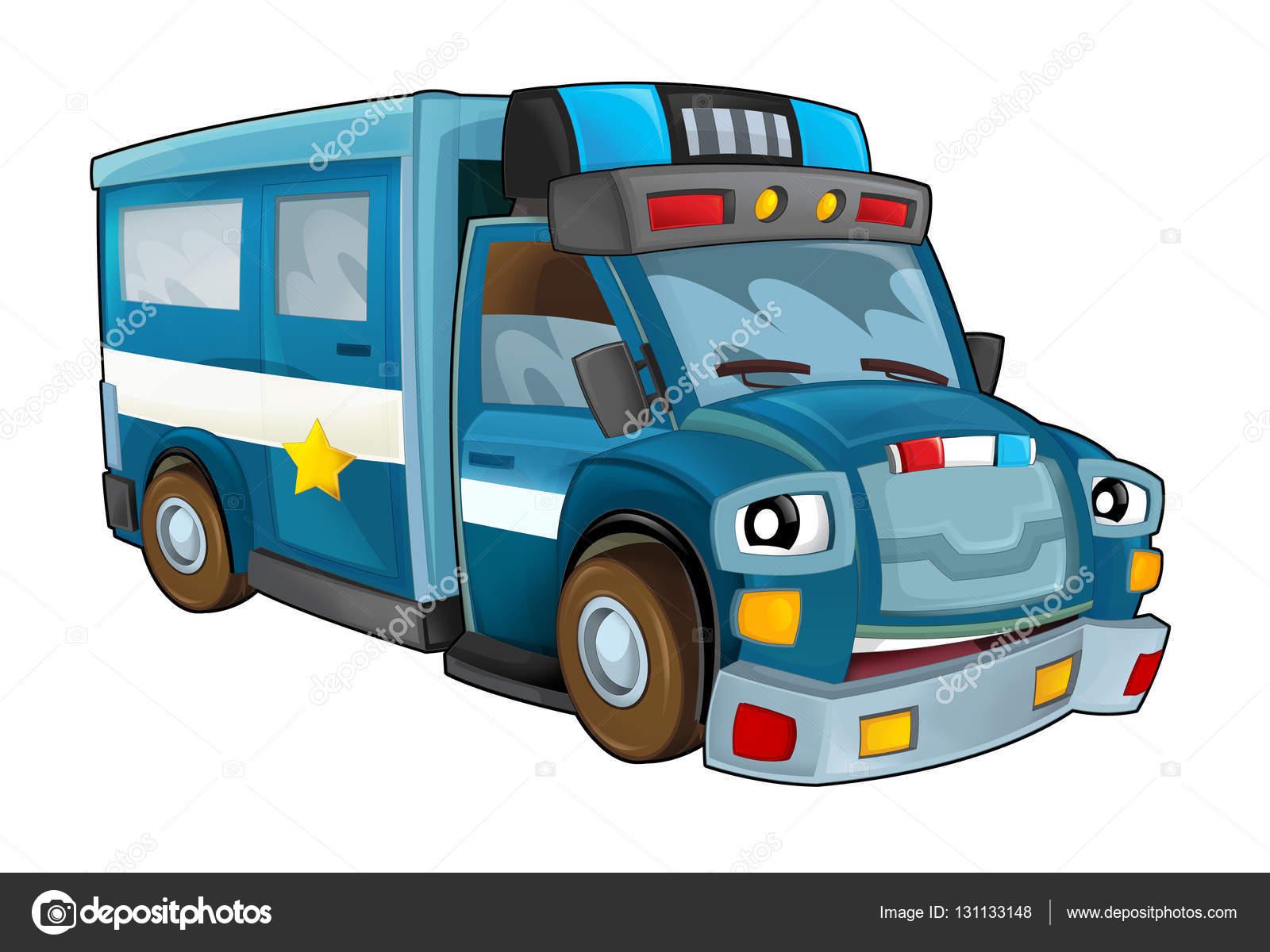 Kresleny Policejni Auto Truck Stock Fotografie C Illustrator Hft