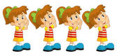 young girls standing and shouting