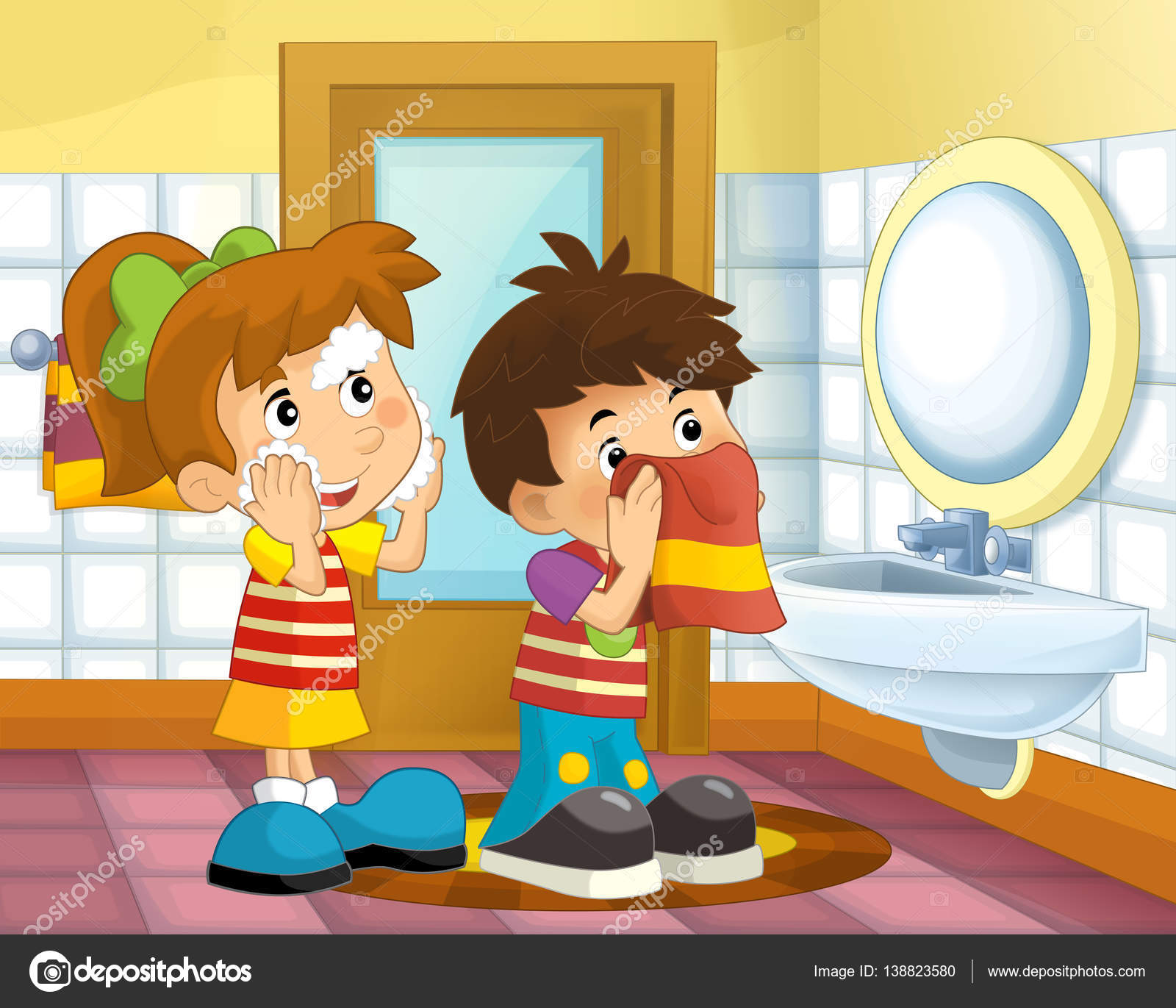 Cartoon Pictures Of Bathrooms: Stock Photo © Illustrator