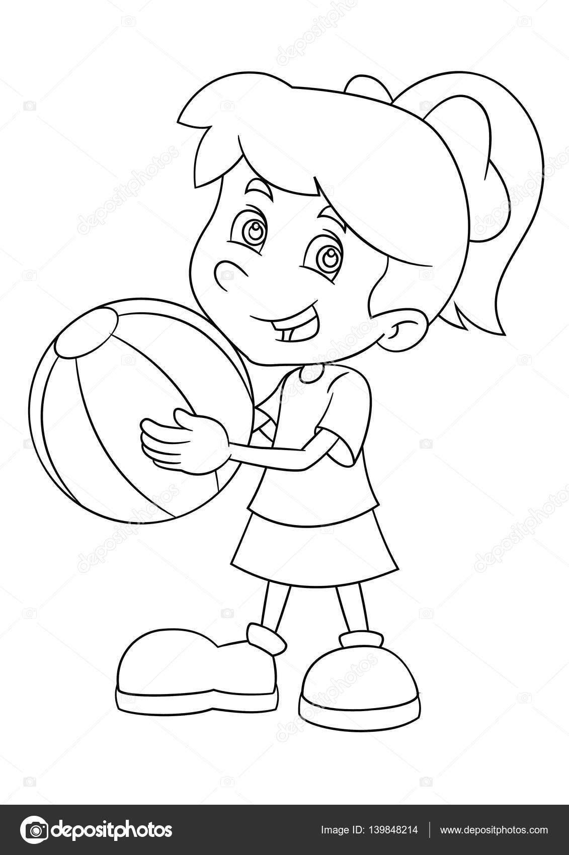 Imágenes Jovenes Alegres Para Colorear Dibujos Animados Chica
