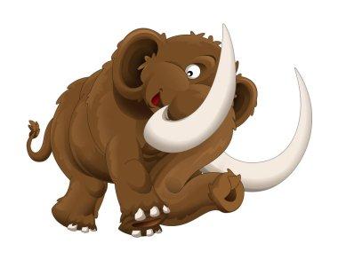 The cartoon mammoth illustration