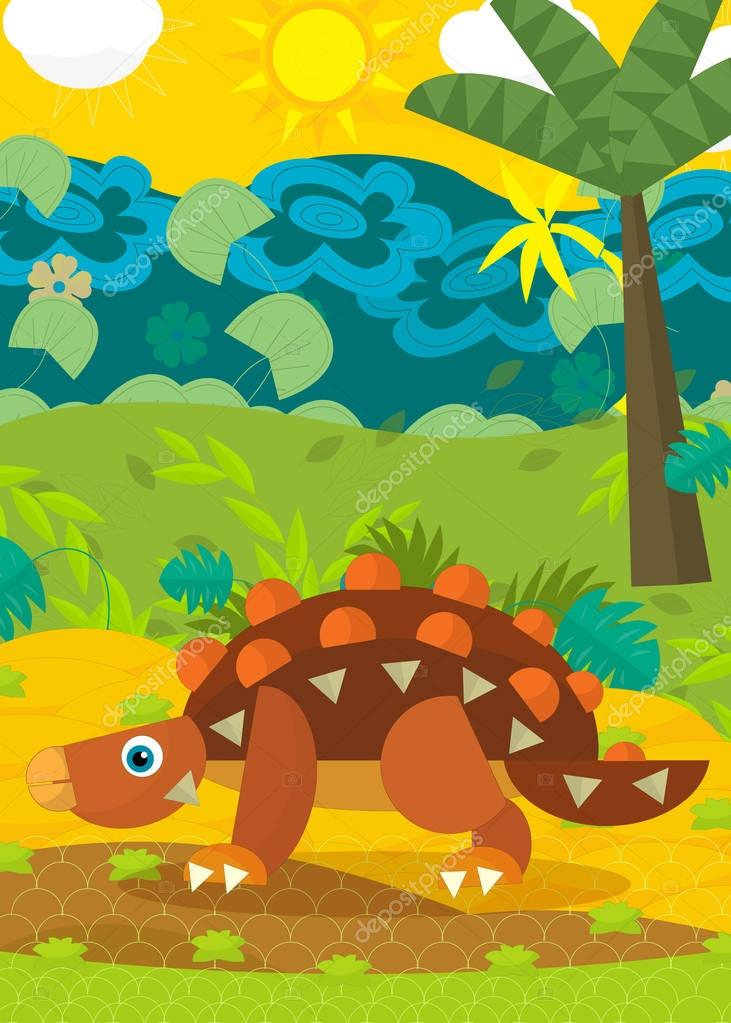 cartoon dinosaur illustration for children