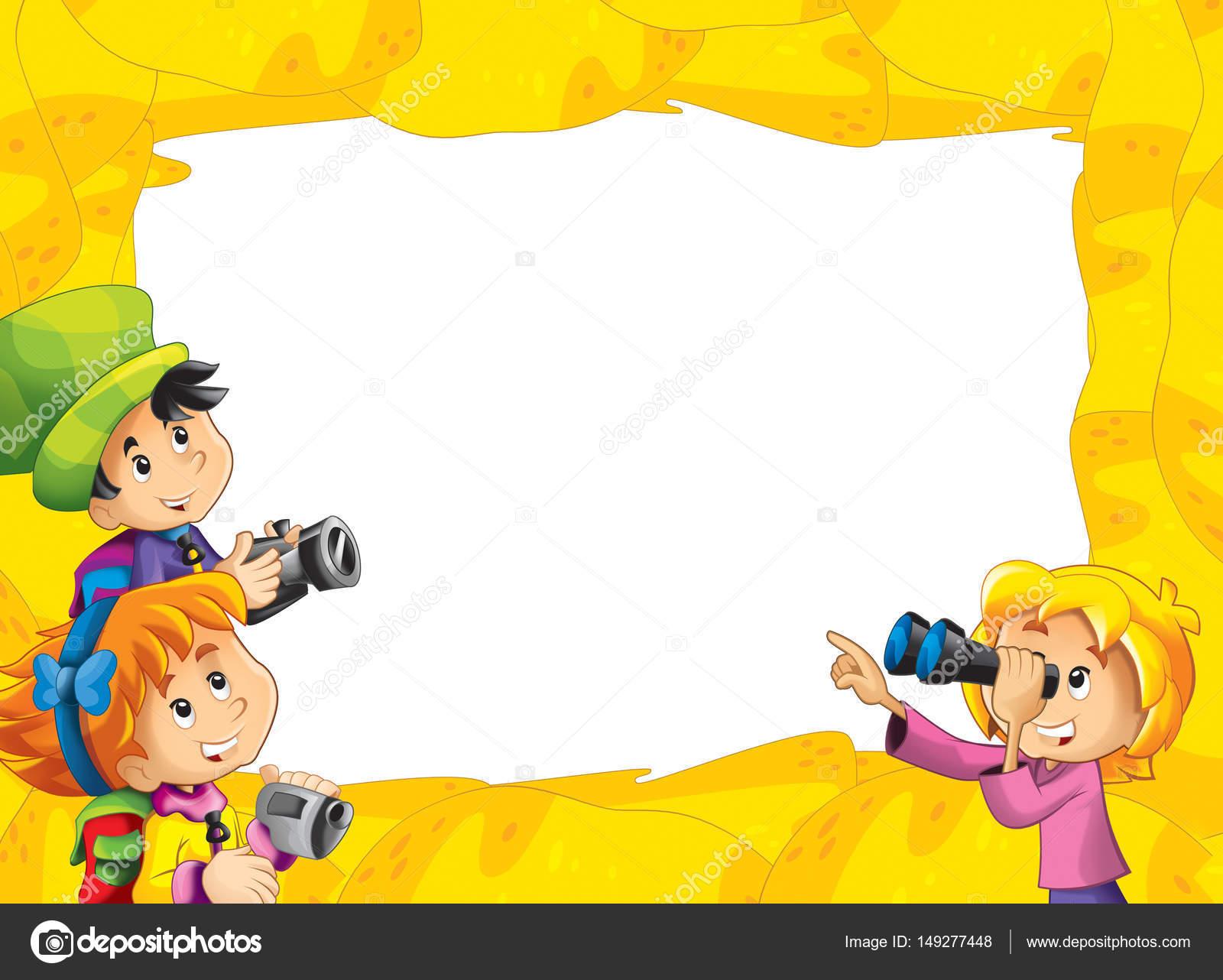 Cartoon-Sand Rahmen für die unterschiedliche Verwendung — Stockfoto ...