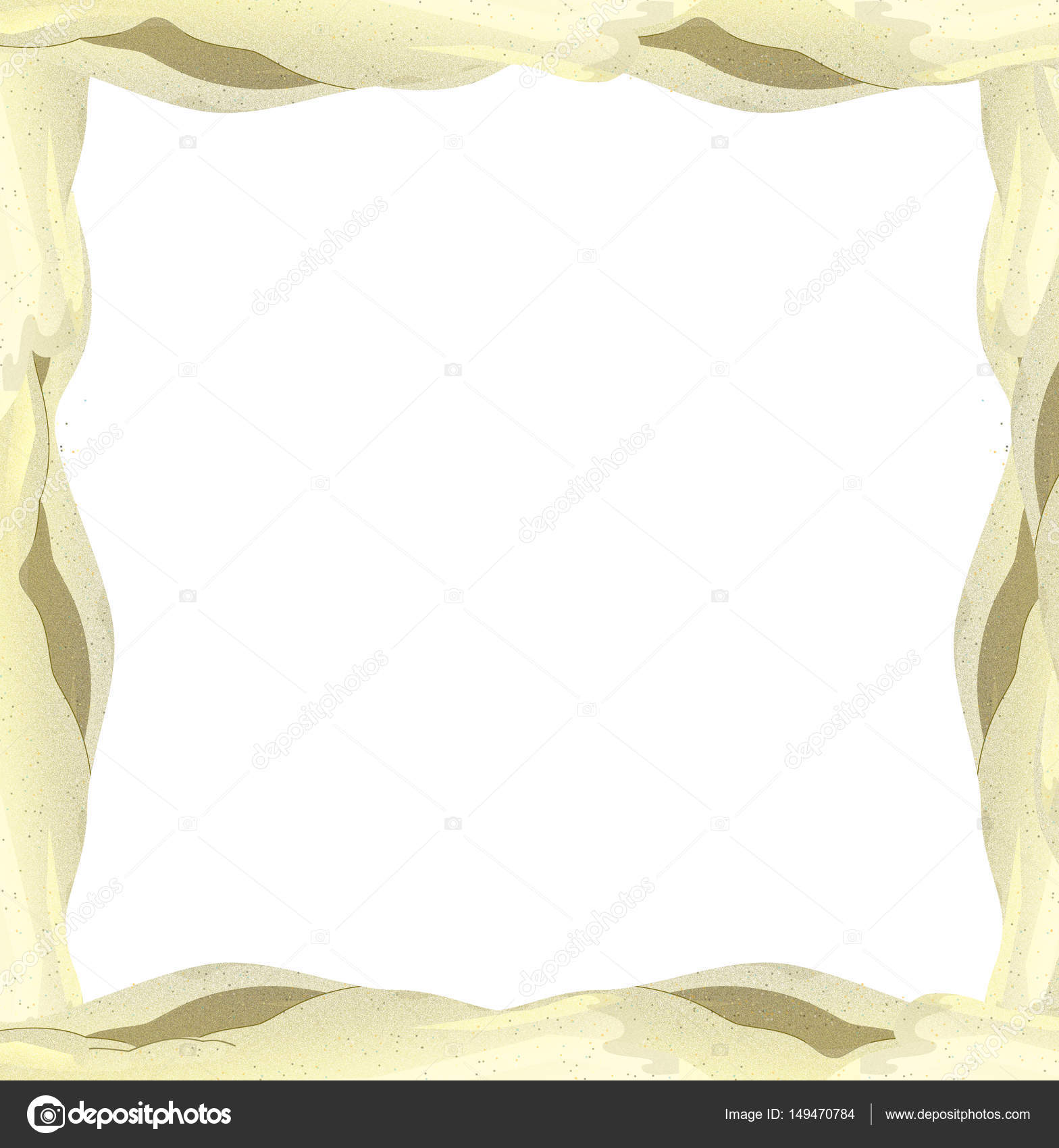 Cartoon sand frame — Stock Photo © illustrator_hft #149470784